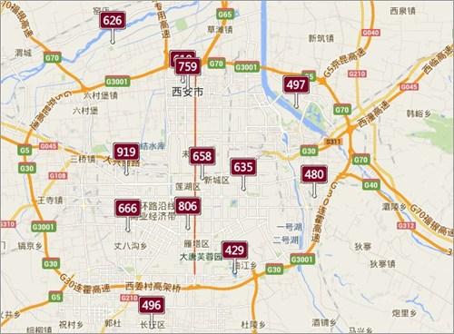西安の大気汚染指数