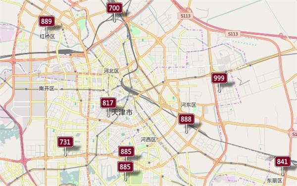 天津の市街地も重度汚染
